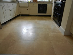 Travertine Floor Before Repolishing