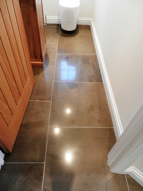 Moroccan Leather Limestone WC After Cleaning