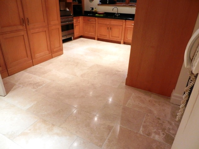 Travertine Tile Replaced and Polished