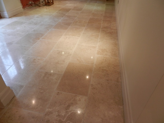 Travertine Floor Completed