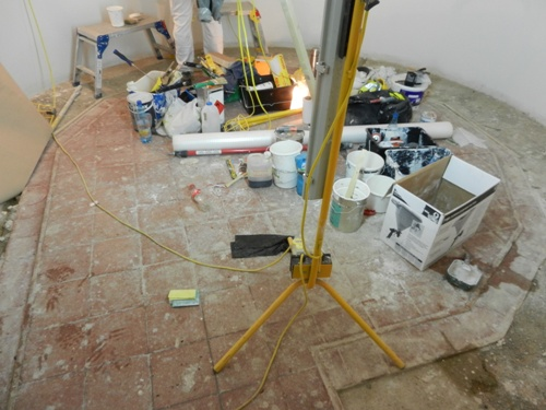 Neglected Victorian Quarry Tiles