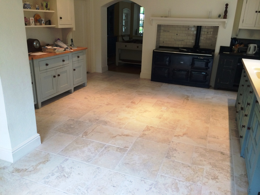 Porcelain Marble Effect Floor After Cleaning in Maidenhead