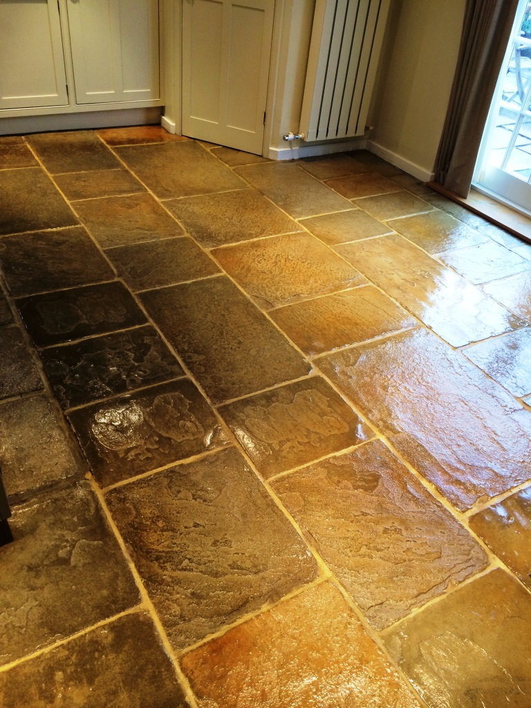 Flagstone Floor Cookham After Cleaning