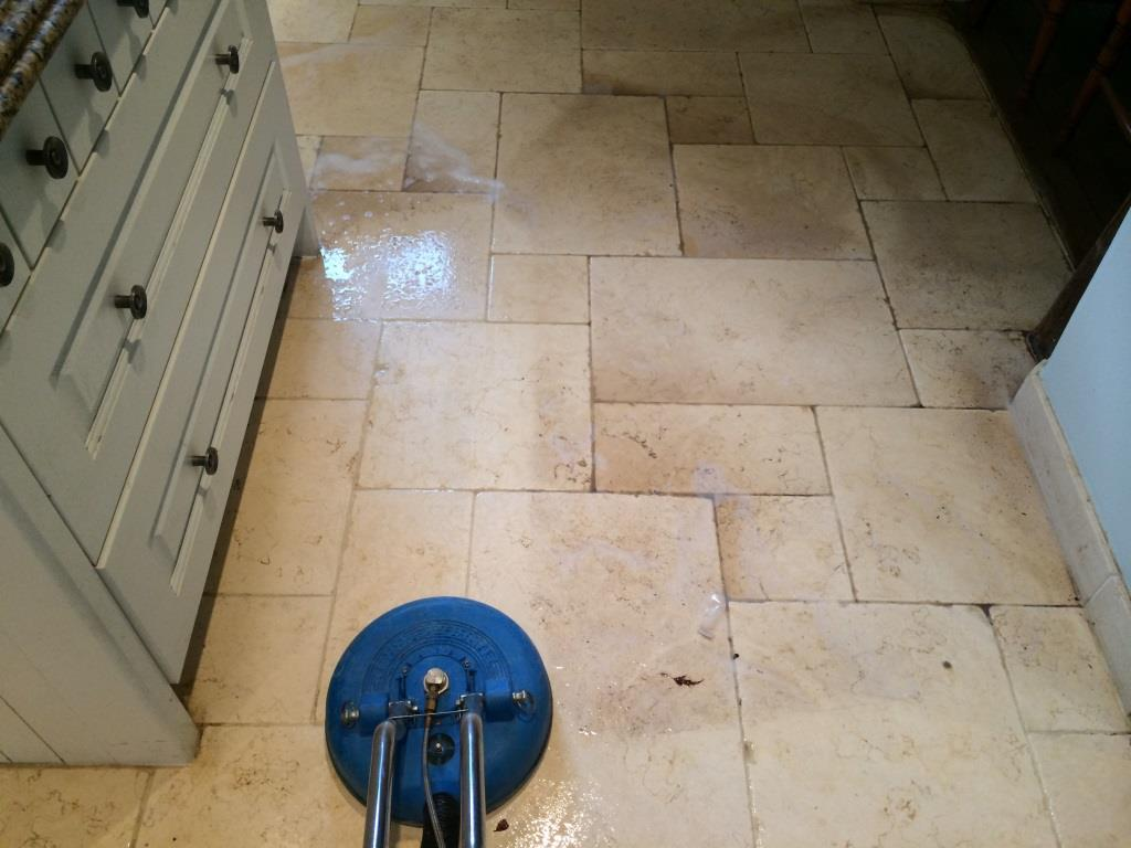 Limestone Kitchen Floor Stains During Cleaning