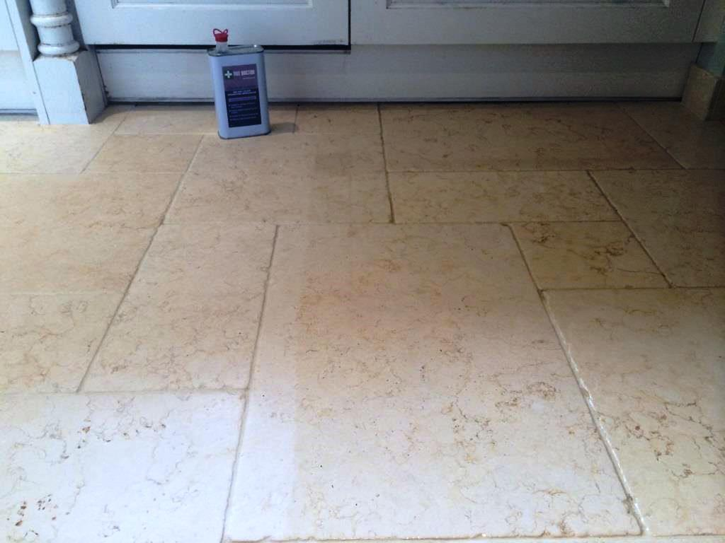Limestone Kitchen Floor Stains During Sealing