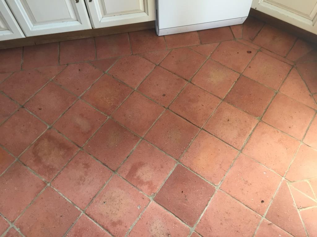 Terracotta Floor After Cleaning in Fifield