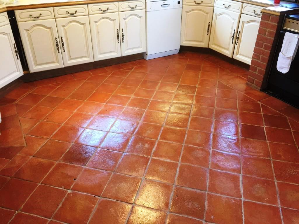 Terracotta Floor After Sealing in Fifield