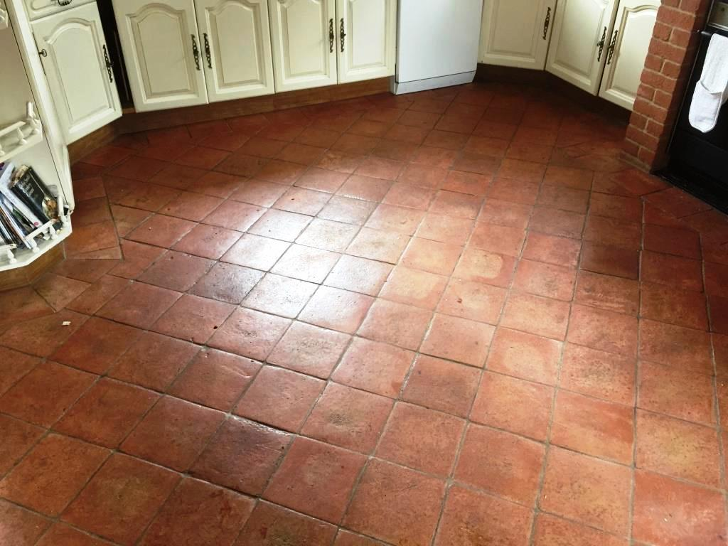 Terracotta Floor Before Cleaning in Fifield