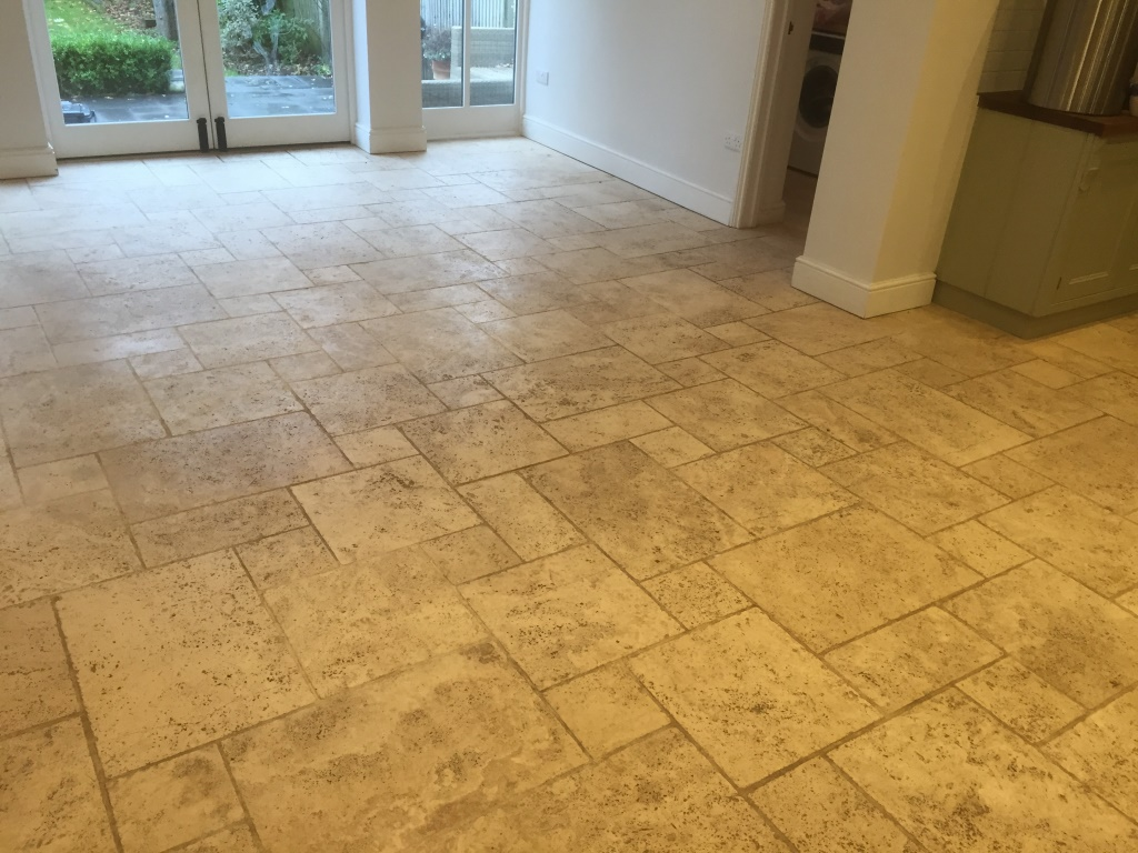 Limestone Floor Before Cleaning Maidenhead