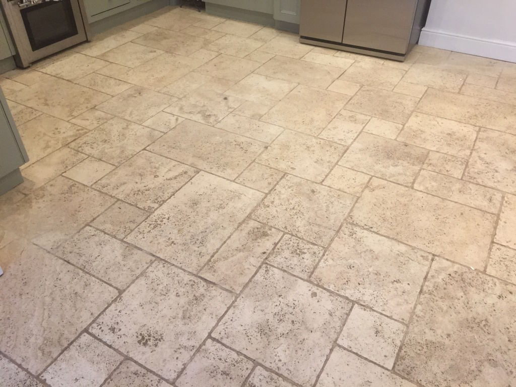 Limestone Floor Before Cleaning Maidenhead
