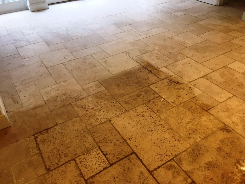Limestone Floor During Cleaning Maidenhead