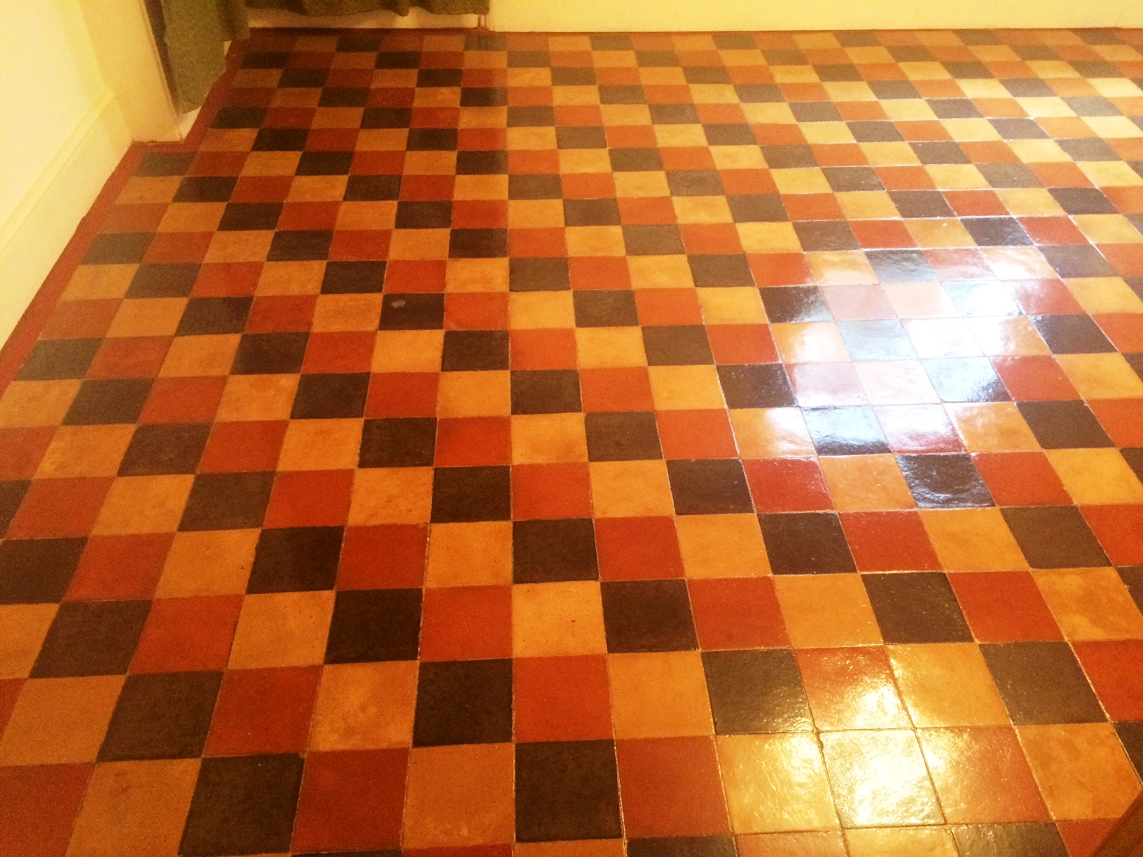 Victorian floor Covered in Lino Pangboune After Cleaning