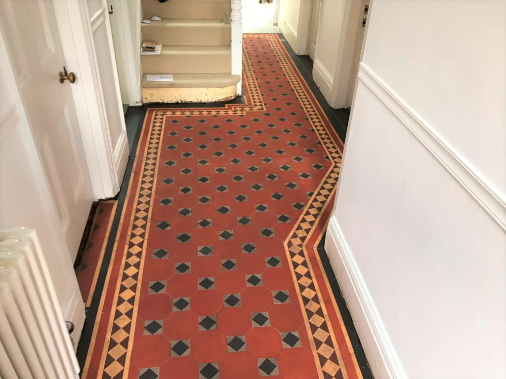 Bitumen Covered Victorian Floor After Cleaning Caversham Reading