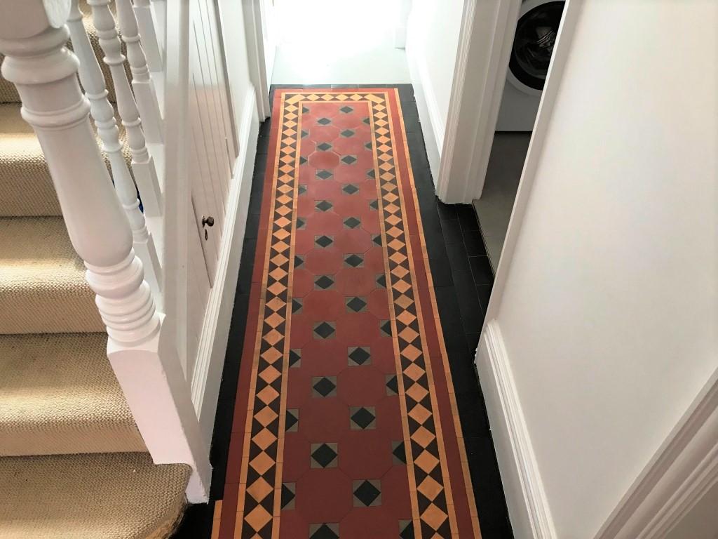 Bitumen Covered Victorian Floor After Restoration Caversham Reading
