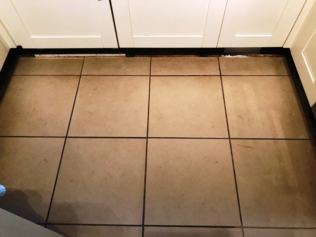 Porcelain Tiled Kitchen Floor Before Renovation Binfield
