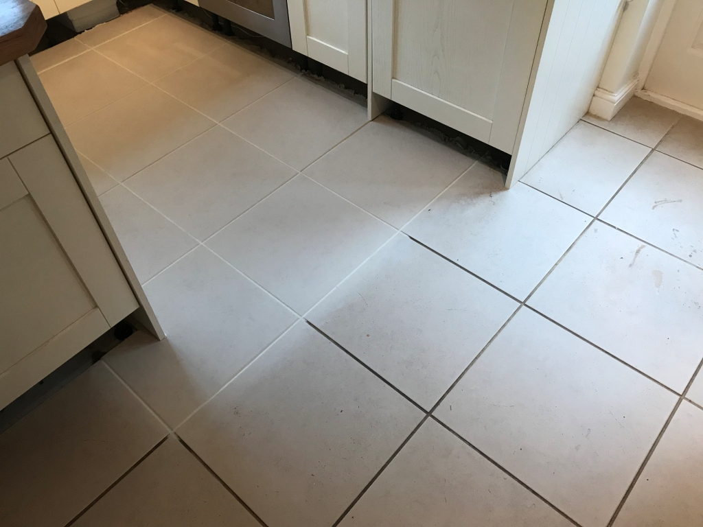 Porcelain Tiled Kitchen Floor During Renovation Binfield