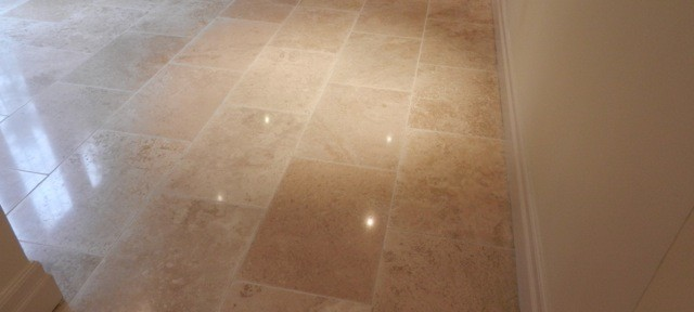 Travertine Tiles Replaced and Polished in Ascot