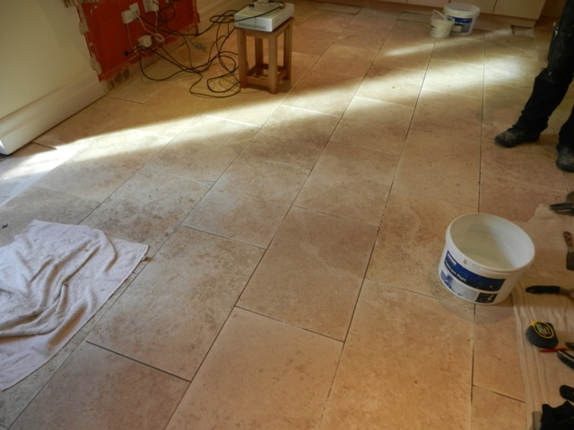Travertine Floor Laid