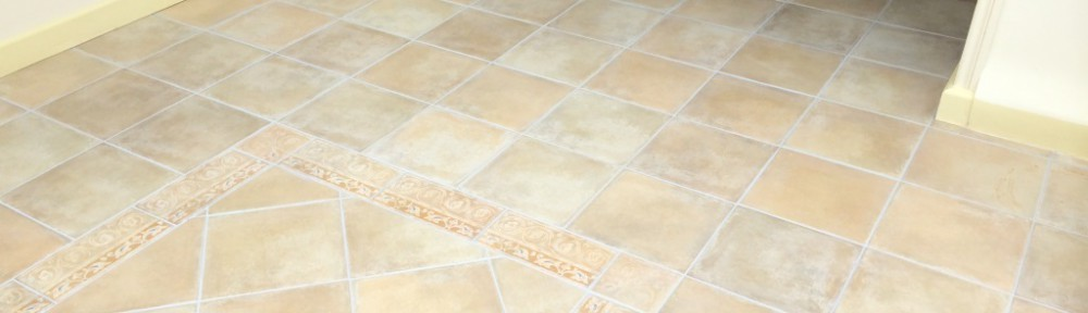 Grout Colouring Porcelain Tiled Kitchen Floor in Maidenhead