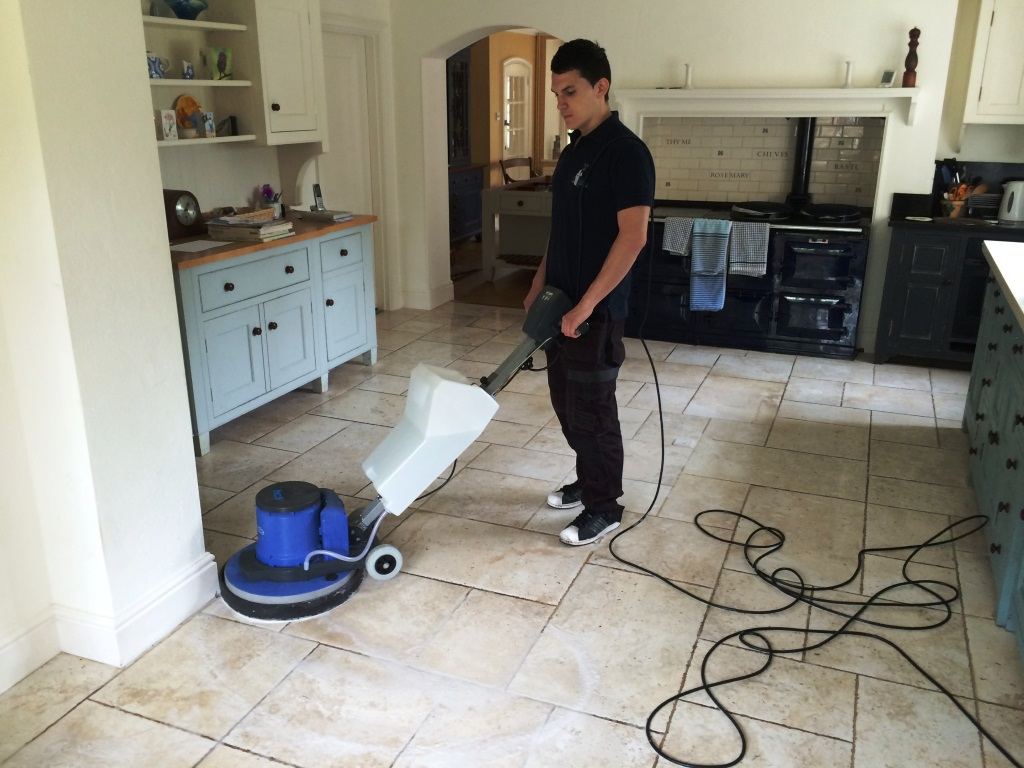 Porcelain Marble Effect Floor Cleaned In Maidenhead During