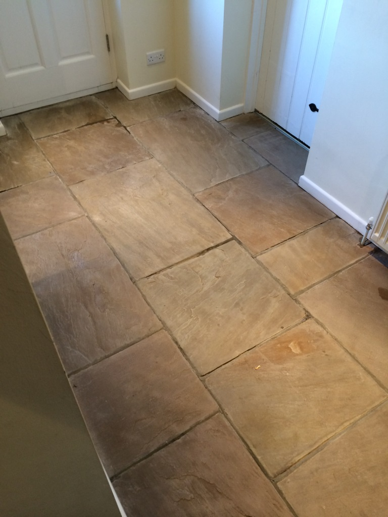 Tiled floor berkshire tile doctor flagstone floor cookham before cleaning slate floor cookham before cleaning doublecrazyfo Choice Image