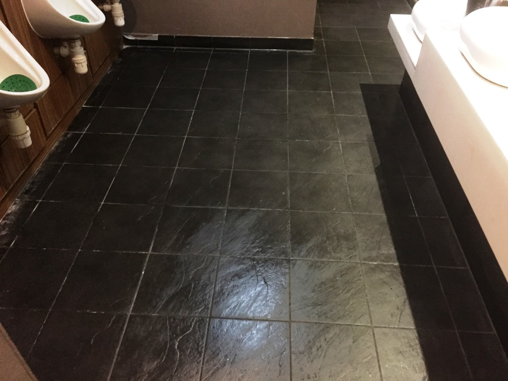 Slate tiles berkshire tile doctor slate floor gents toilets at bowling alley inspection dailygadgetfo Choice Image