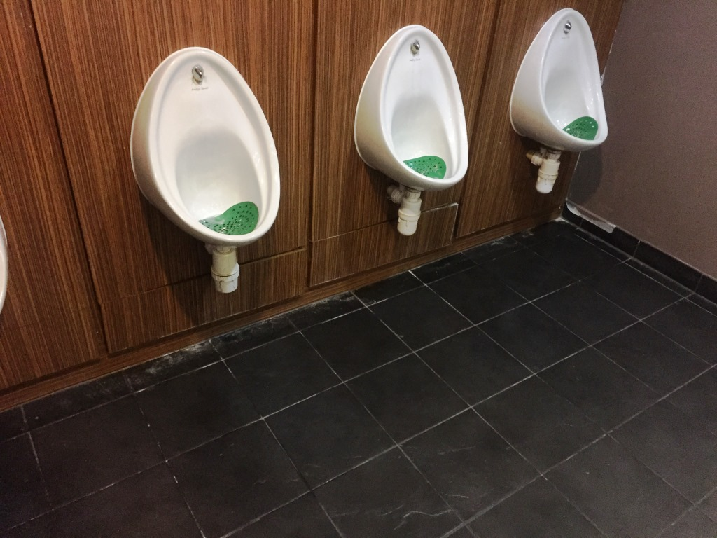 Slate Floor Gents Toilets at Bowling Alley Inspection