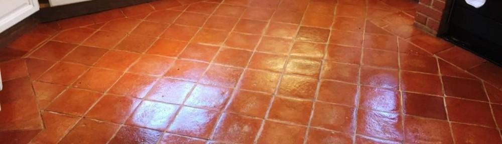 Terracotta Floor After Sealing in Fifield