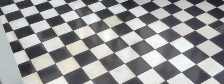 Victorian Effect Marble Tiled Floor Restored in Streatley