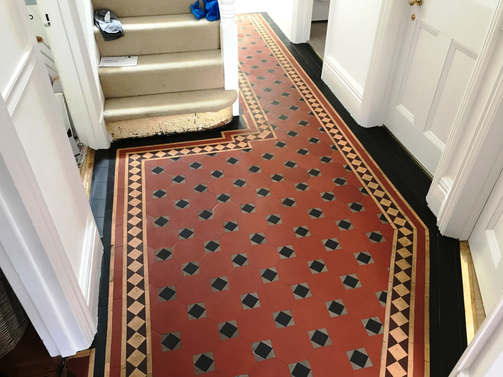 Bitumen Covered Victorian Floor After Restoration Caversham Reading
