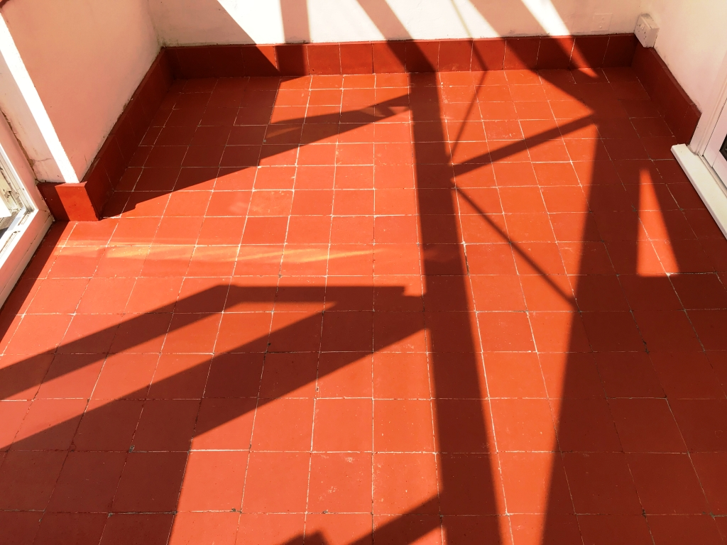 Reclaimed Painted Quarry Tile Basildon After Restoration