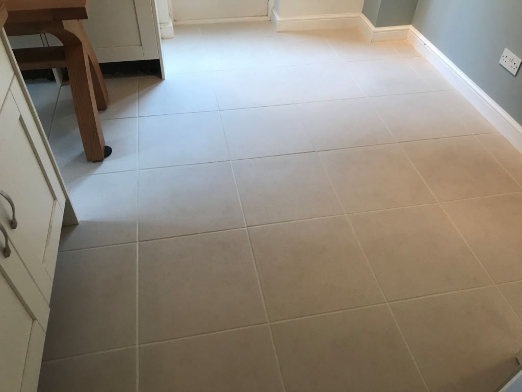 Porcelain Tiled Kitchen Floor After Renovation Binfield