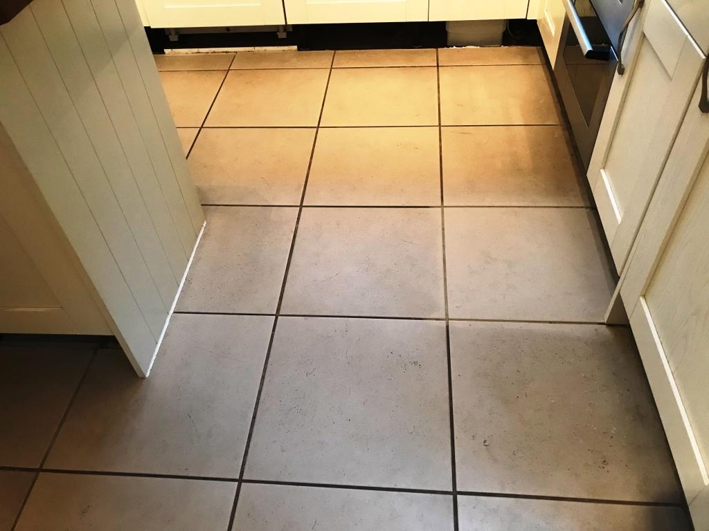 Porcelain Tiled Kitchen Floor Before Renovation Binfield
