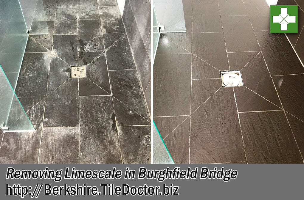 Porcelain Tiles Before After Limescale Removal Burghfield Bridge