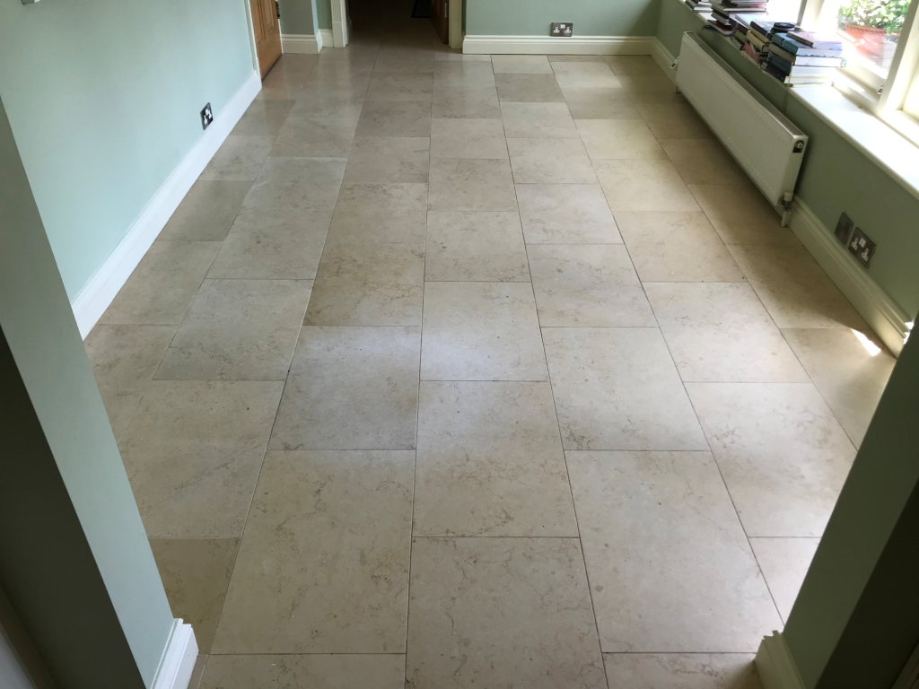 Jerusalem Limestone Floor Before Polishing in Twyford