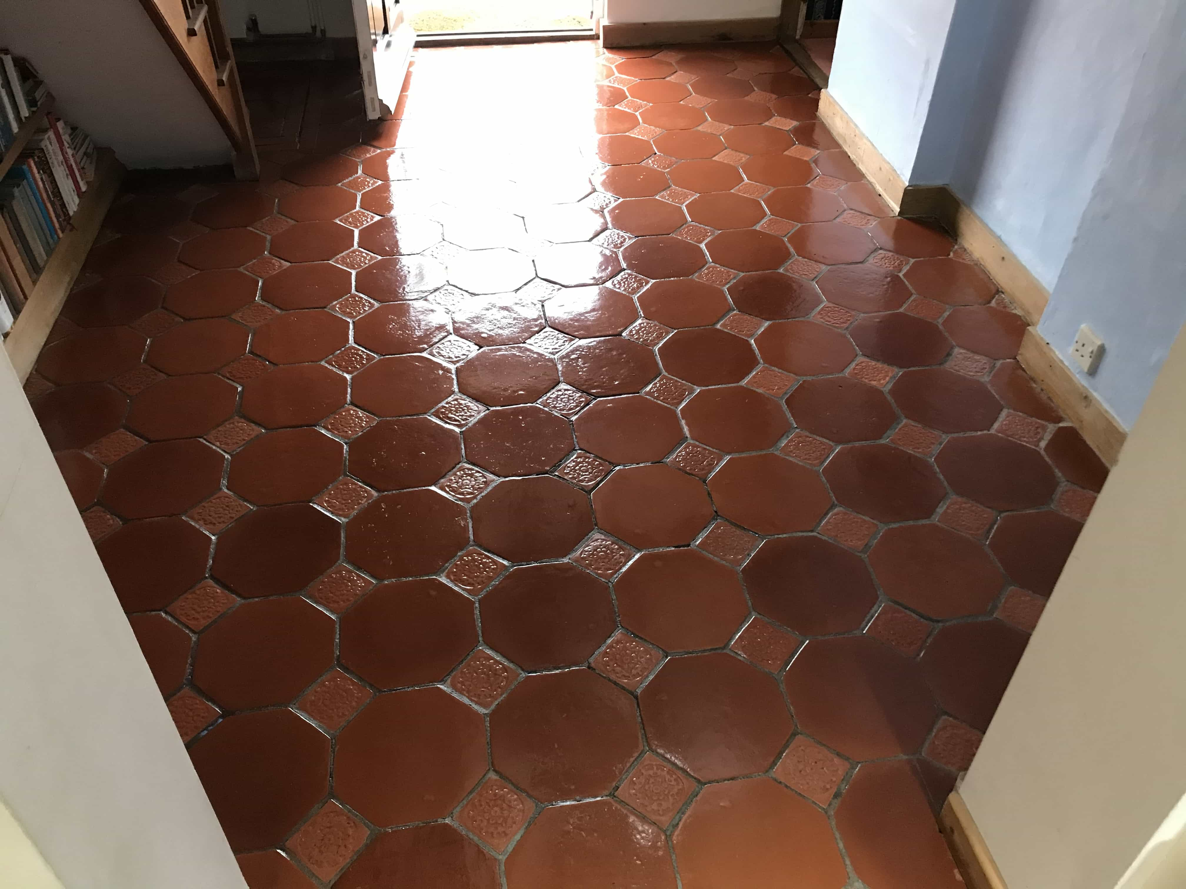 Terracotta Tiled Floor After Cleaning Crowthorne