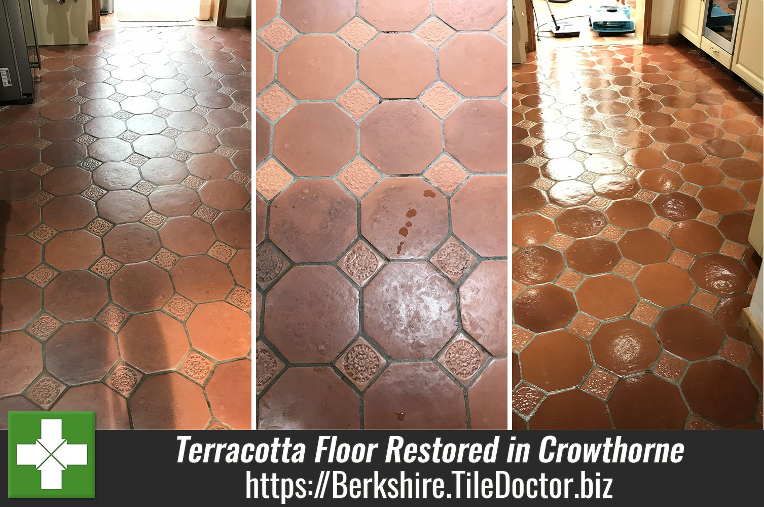 Twenty Year Old Terracotta Floor Renovated in Crowthorne