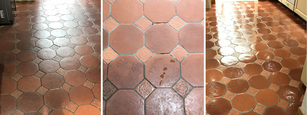 Terracotta Tiled Floor Renovated in Crowthorne