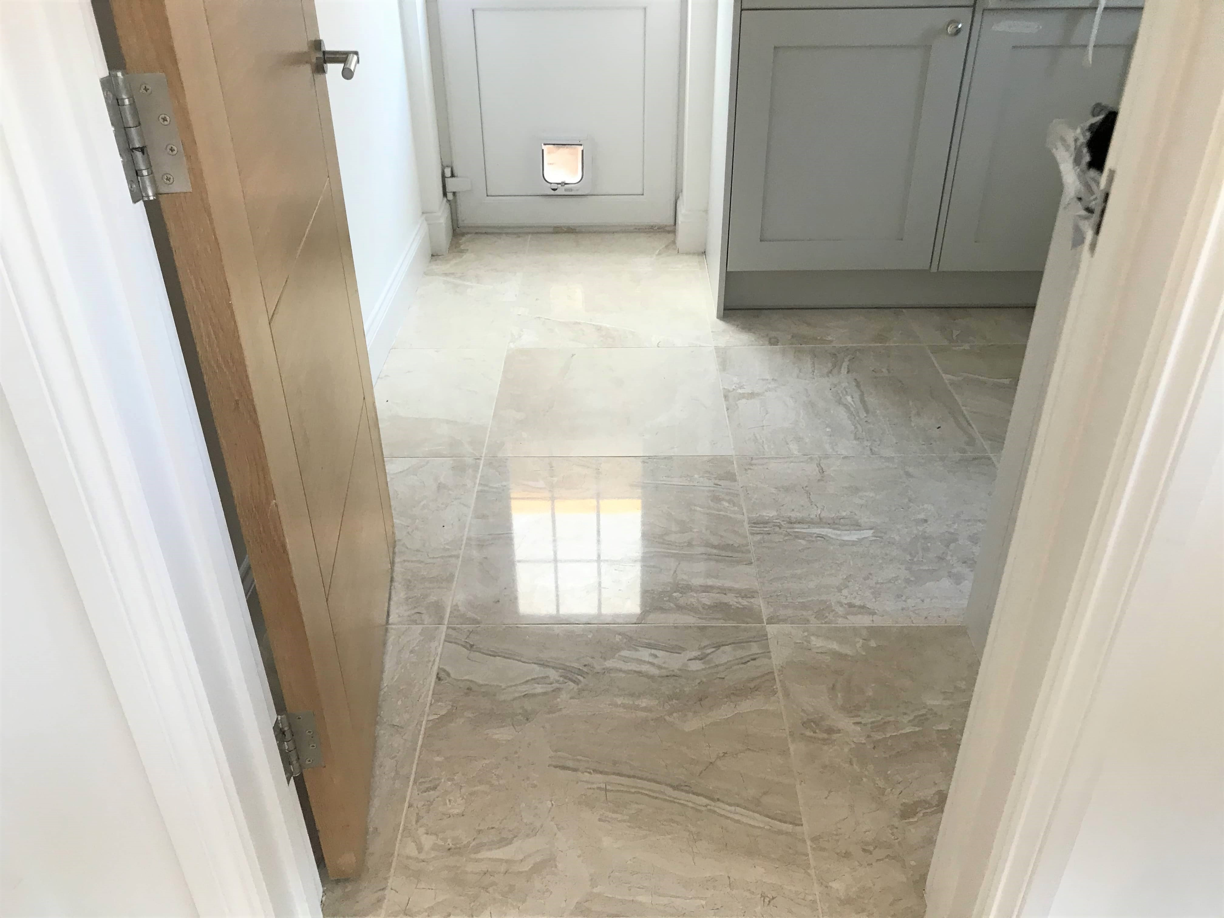 Marble Floor After Polishing Wokingham