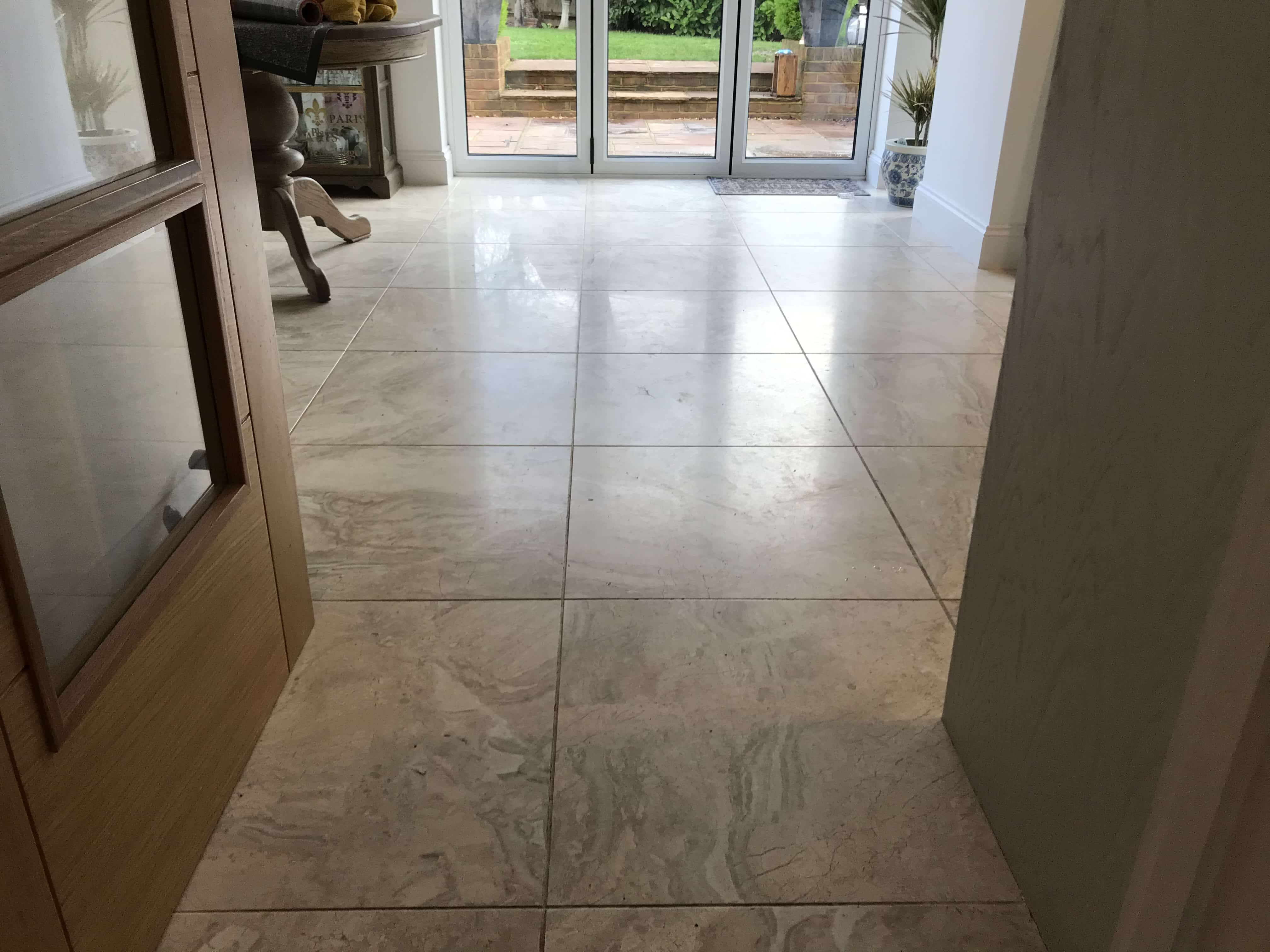 Marble Floor Before Polishing Wokingham