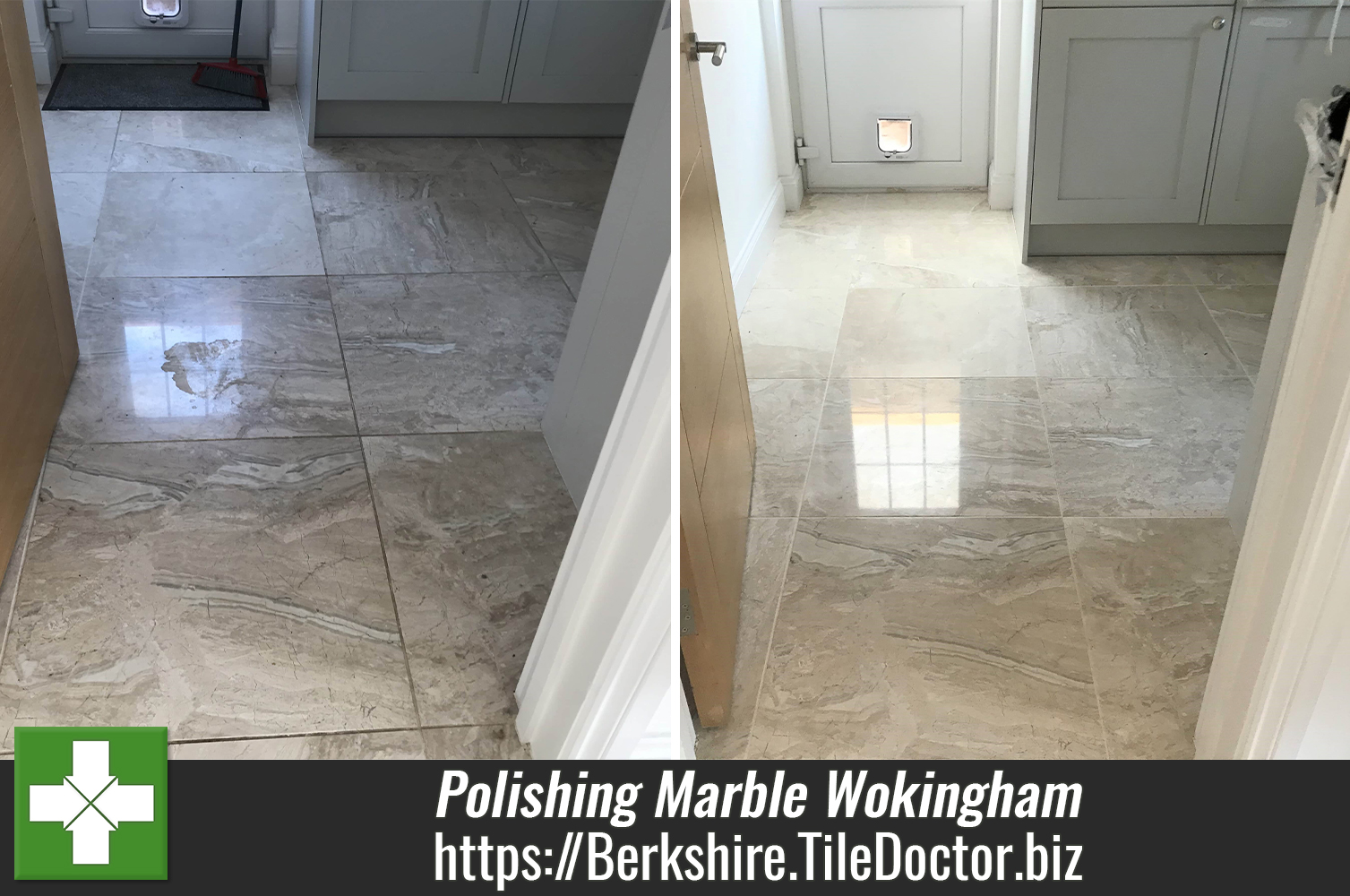 Marble Floor Repolished in Wokingham Show Home