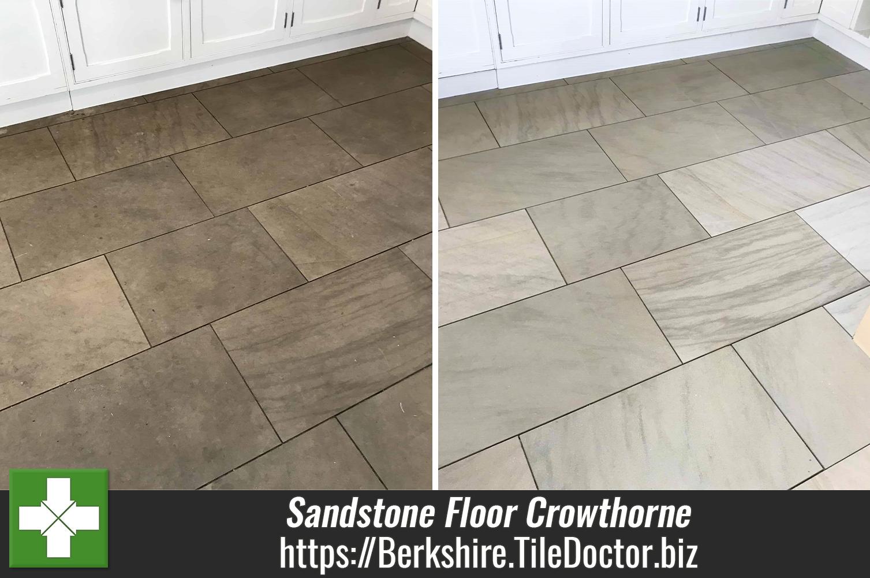 Large Sandstone Floor Renovated at Crowthorne Rental Property