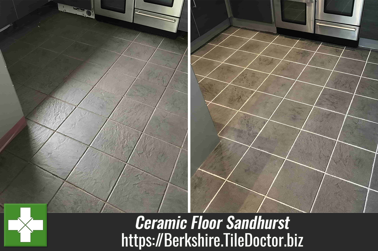 Removing Grout Haze from Ceramic Tile and Grout in a Sandhurst Kitchen